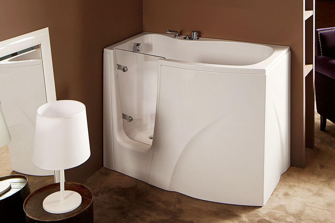 Gen y vasca da bagno per disabili anziani treesse edilceramiche di maccan - Vasca da bagno 120x70 ...