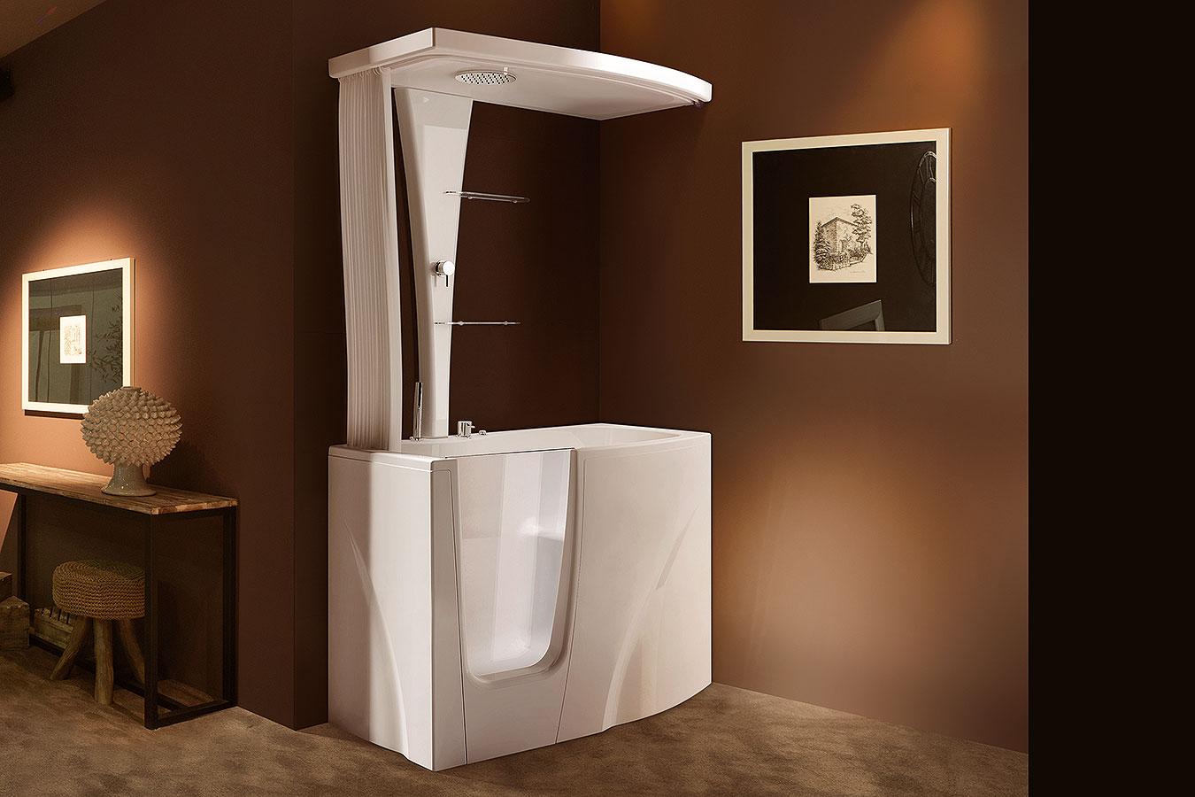 Gen y top vasca da bagno per disabili anziani treesse edilceramiche di maccan - Vasca da bagno 120x70 ...