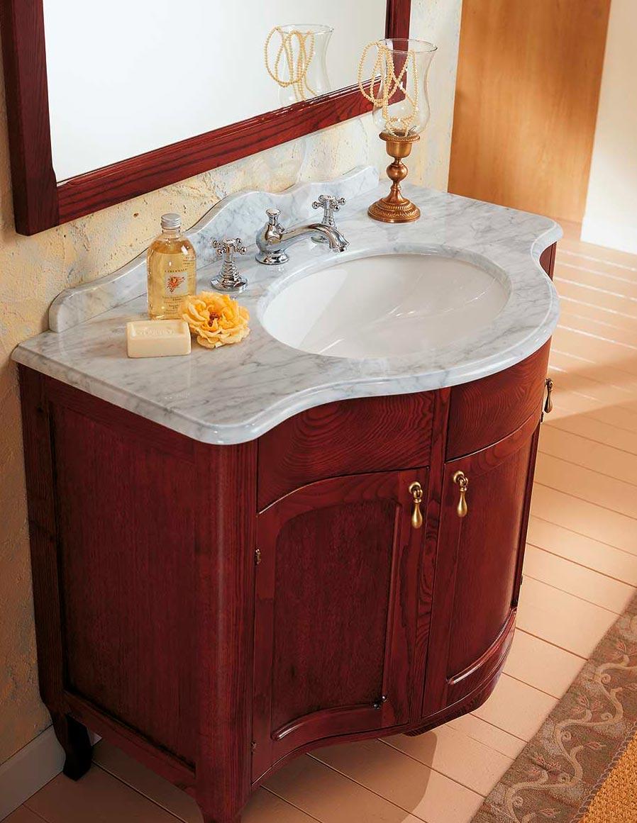 vendo mobile bagno bianco con specchiera e piano in marmo ...