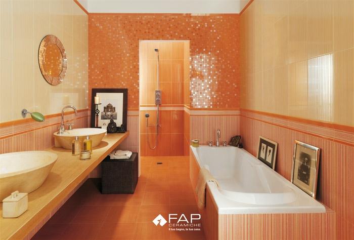 Rivestimenti bagno arancione [tibonia.net]
