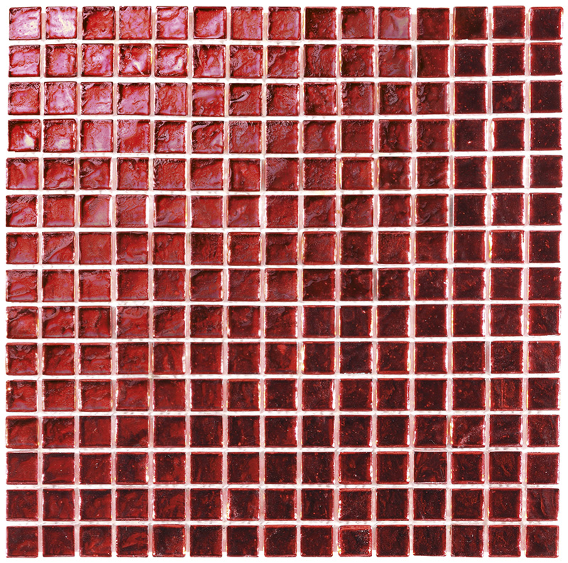 SHINE GLASS RED Mosaico Cm.29,6x29,6 Boxer