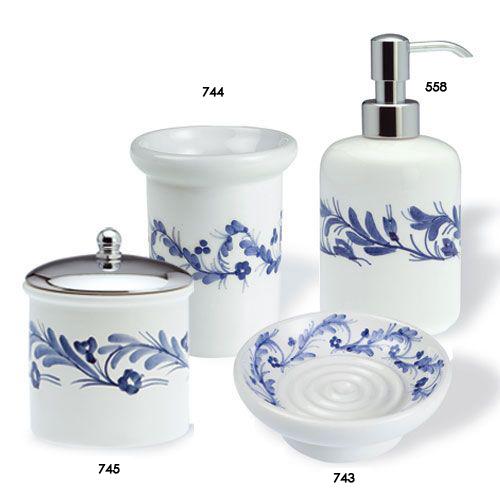 Accessori Bagno In Ceramica Decorata.Oggettistica Edilceramiche Di Maccano