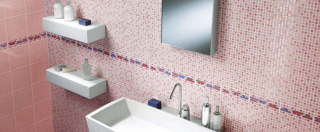 bagno con mosaico rosa : CEDIR Ceramiche - Ceramiche - Edilceramiche di Maccan?