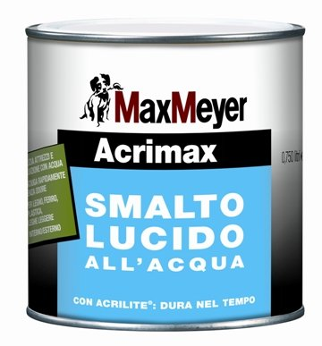 ACRIMAX Smalto all'acqua Lucido  MAX-MEYER