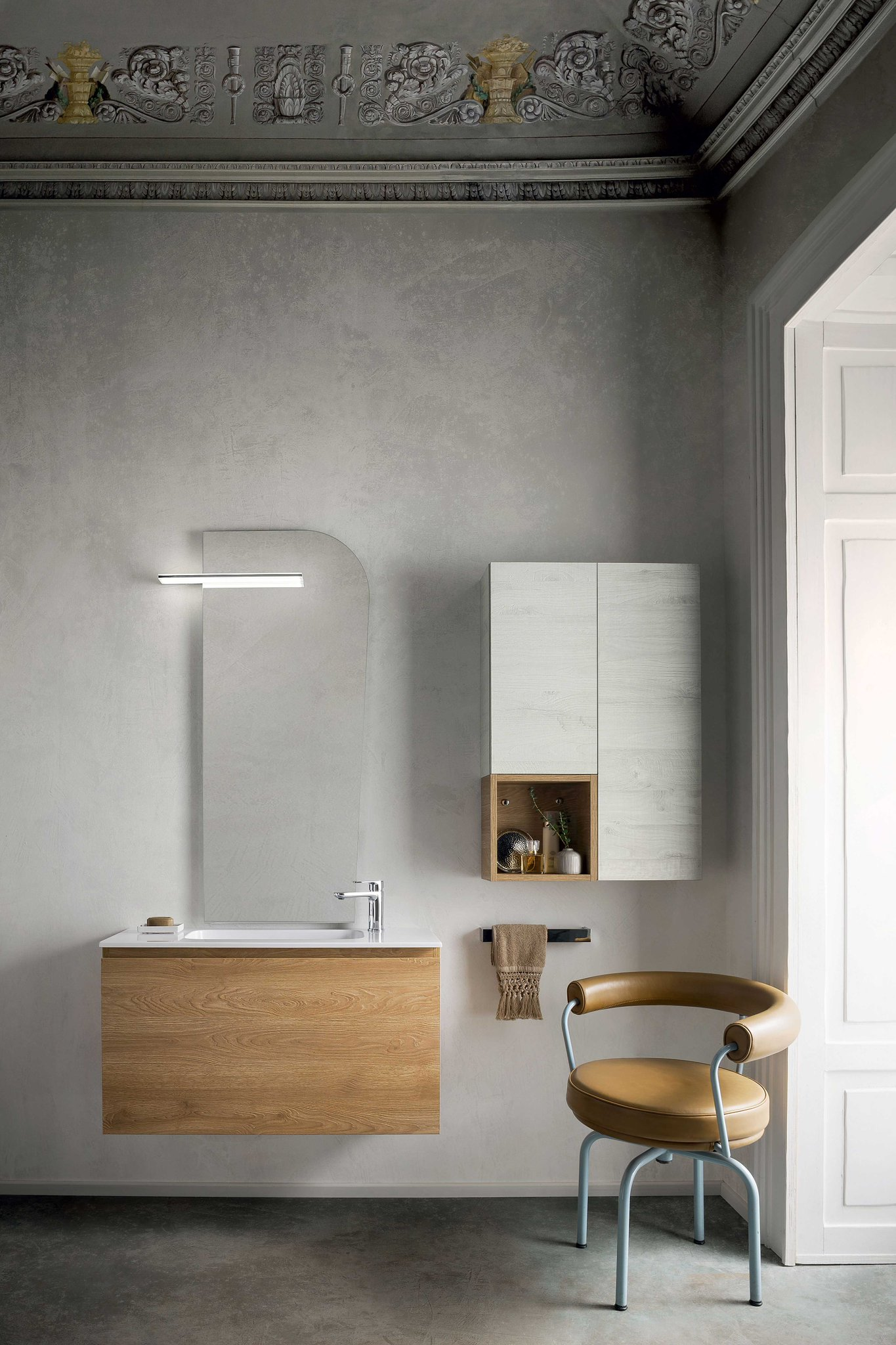 Base A Giorno Laterale Atlantic : Mobili bagno cm simple mobile laura marrone l