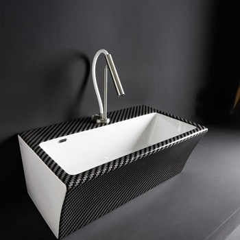 "BLOCK  ""CARBON"" Lavabo in Ceramica cm.60x35x25  XILON"