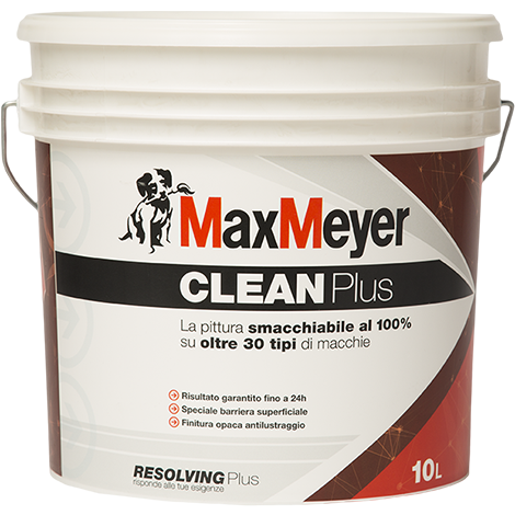 Clean Plus 5Lt. Pittura Murale  Smacchiabile     Max-Meyer