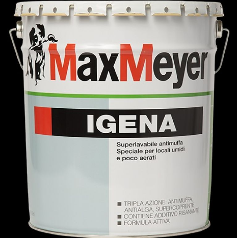 IGENA opaca 4 LT. Pittura Murale Antimuffa Superlavabile   Max-Meyer