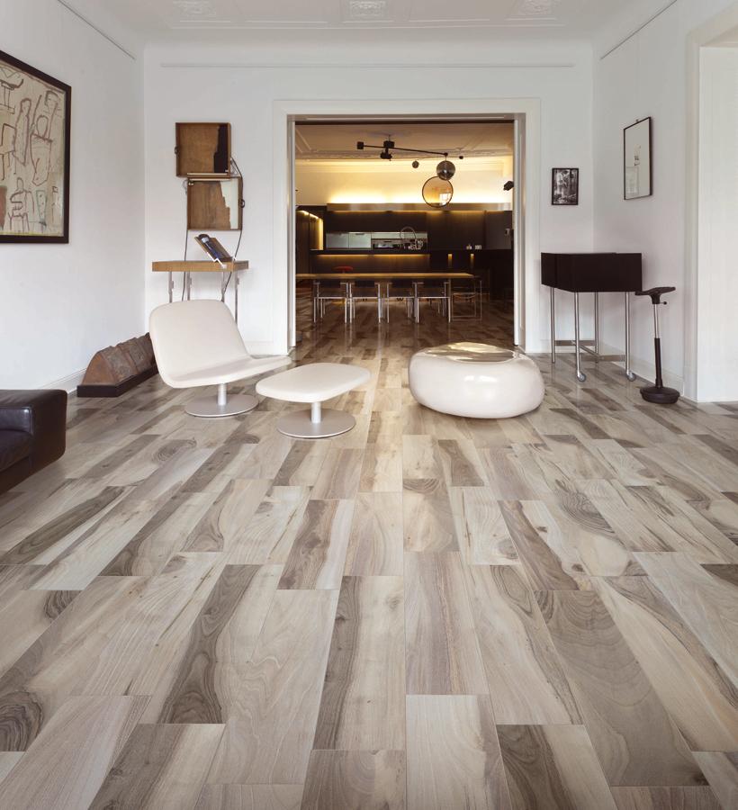 Acadia pavimento effetto legno saime ceramiche with for Pavimenti grigi