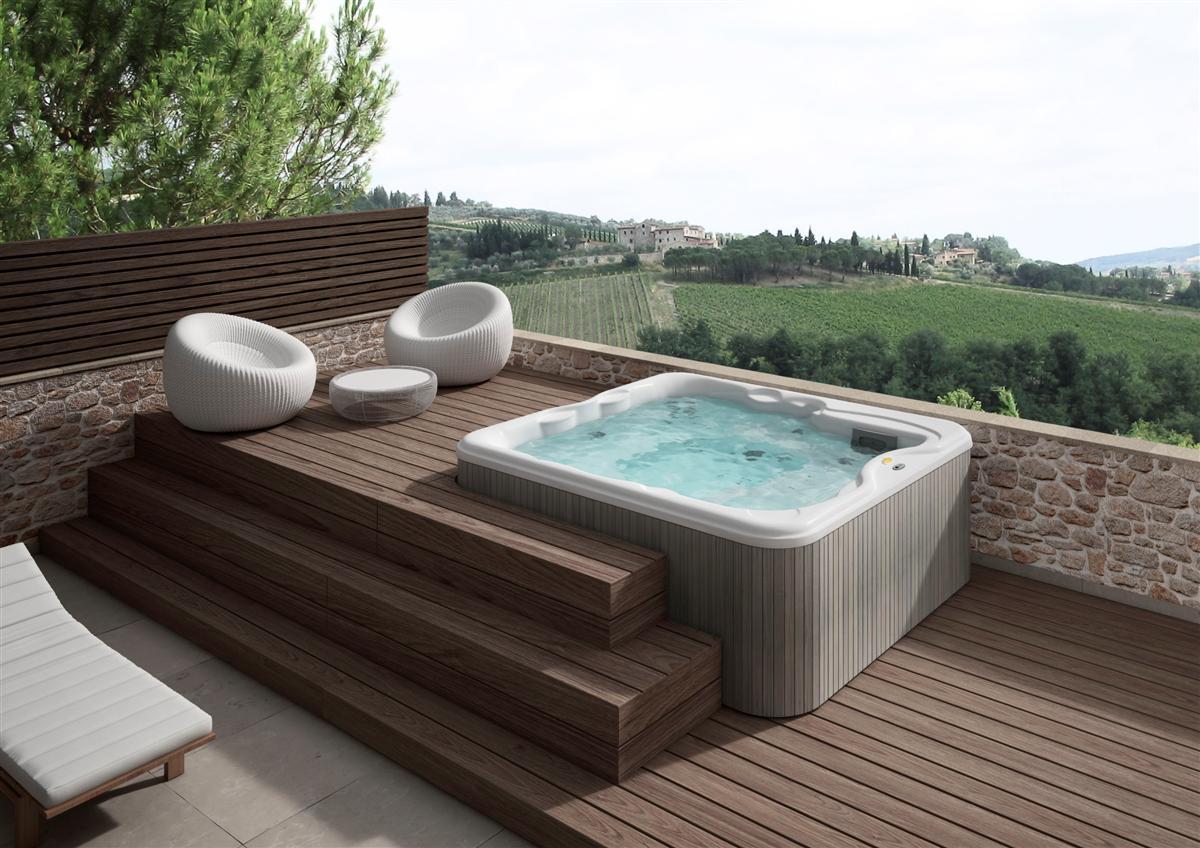 Vasca Da Bagno Jacuzzi Usata : Lodge l mini piscina cm.223x211 xh.90 jacuzzi edilceramiche di maccanò