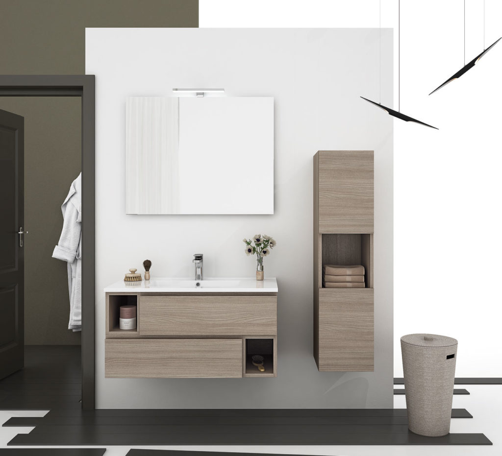 Mobili legno bagno bagno mobile in legno arredamenti e - Mobili bagno in legno ...