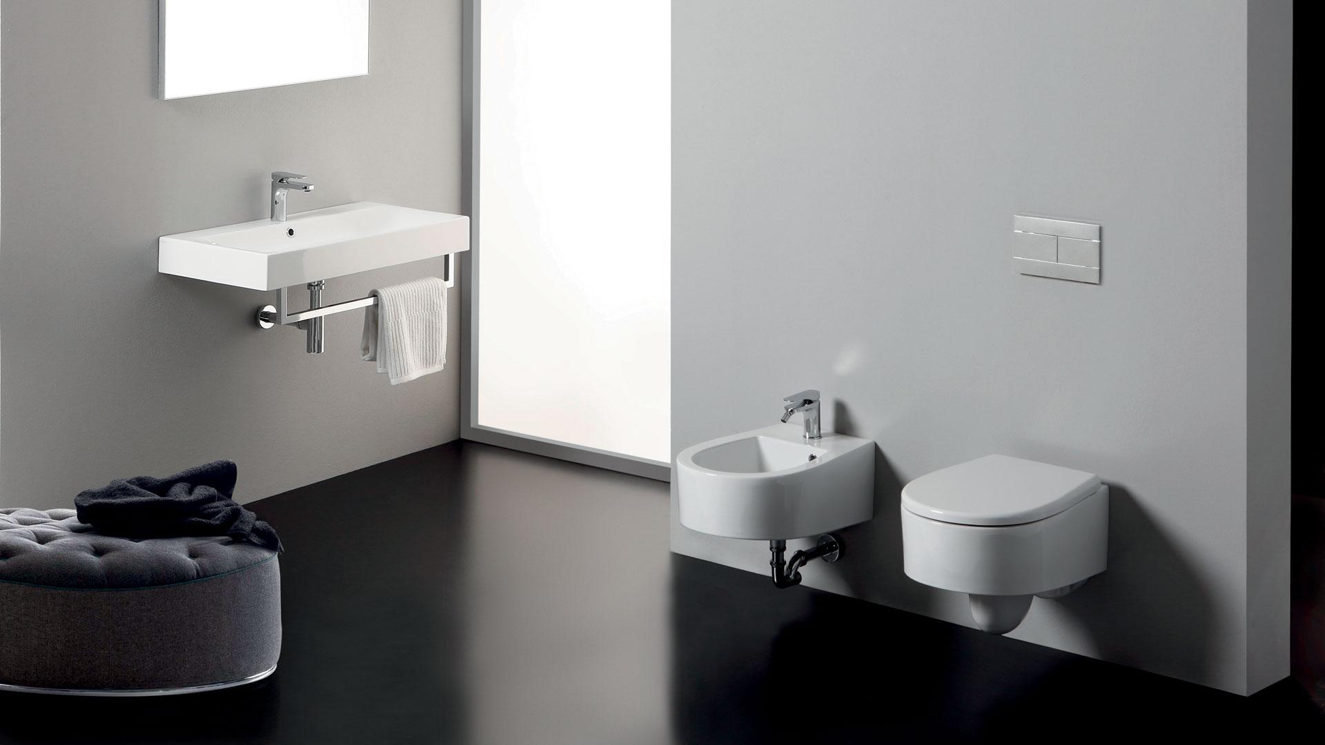 Vasca Da Bagno Kerasan : Sanitari bagno filo muro a terra vaso wc coprivaso bidet flo