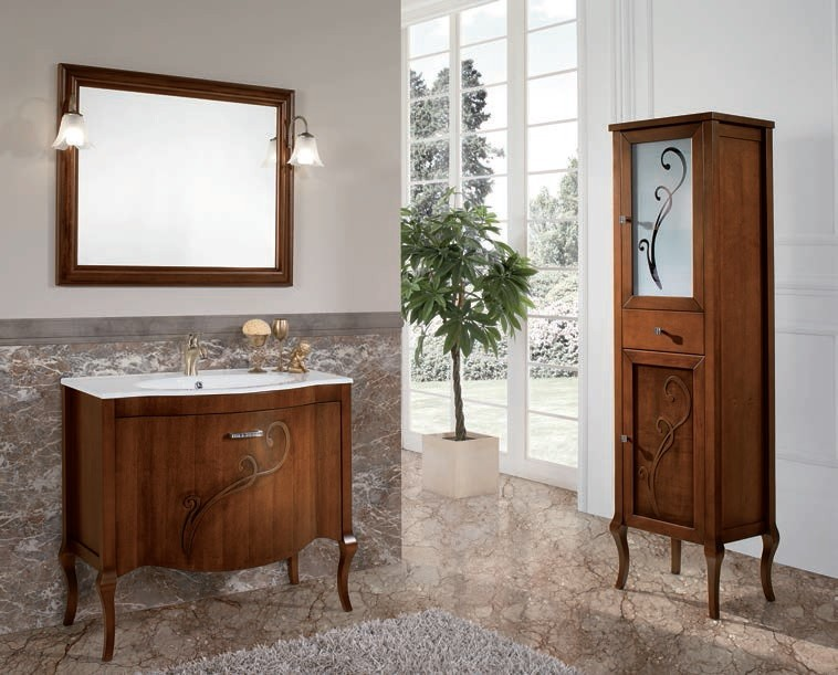 MATINA  Mobile da Bagno in Finitura Noce  BLUELIFE