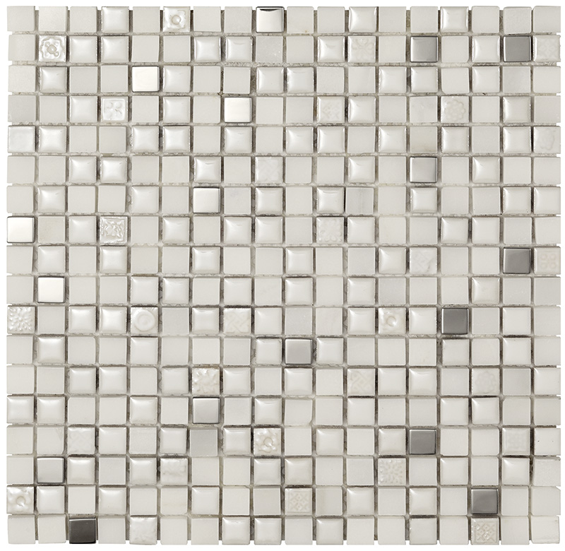 MEXICAL  Modern Snow Metal  Mosaico  30x30   BOXER