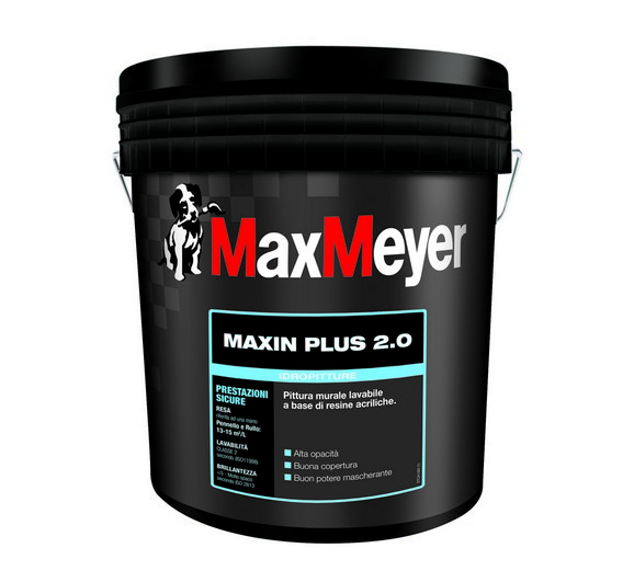 MAXIN PLUS 2.0  Pittura Murale  Acrilica  Superlavabile  14Lt.  MaxMeyer