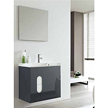 SWIFT 80  Mobile da Bagno cm.80  Nero Opaco   ROYO GROUP