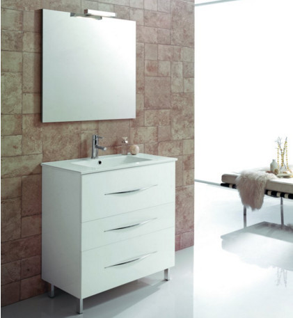 MAXIMUM 80  Mobile da Bagno cm.80  Bianco Lucido   ROYO GROUP
