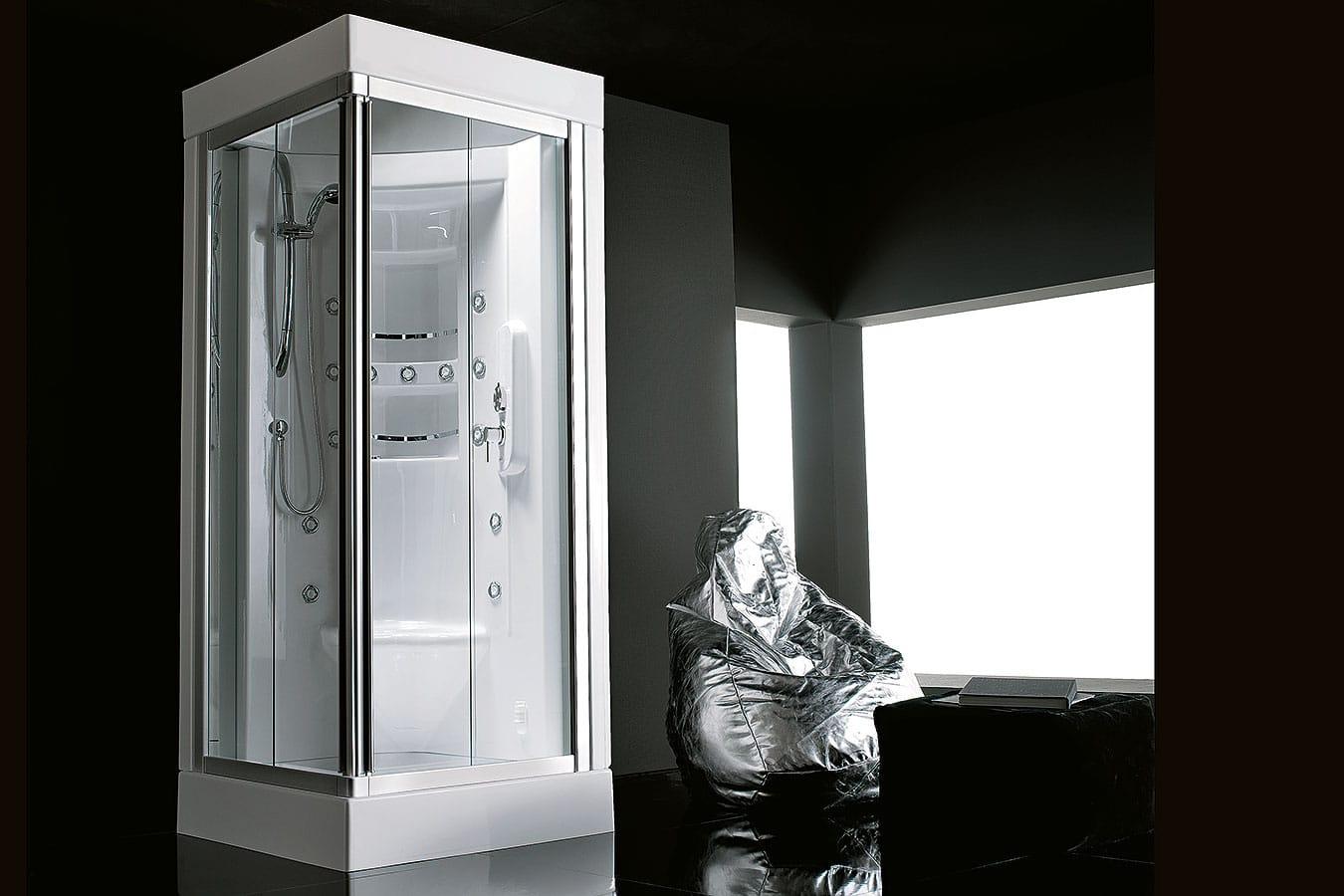 Cabina Multifunzione 80x80 : Acquazzurra cabina doccia multifunzione cm treesse