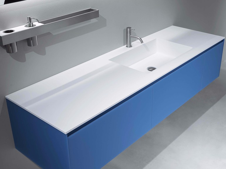PODIO   Mobile da Bagno con Top in Flumood  Antonio Lupi