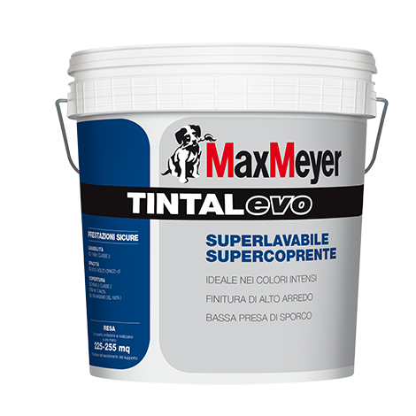 TINTAL-EVO Pittura Murale Superlavabile Supercoprente         Max-Meyer
