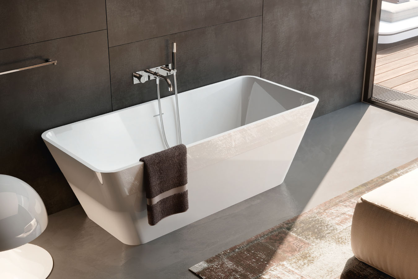 Vasca Da Bagno Incasso Ceramica : Viva vasca da bagno centro stanza cm.165x70 treesse edilceramiche