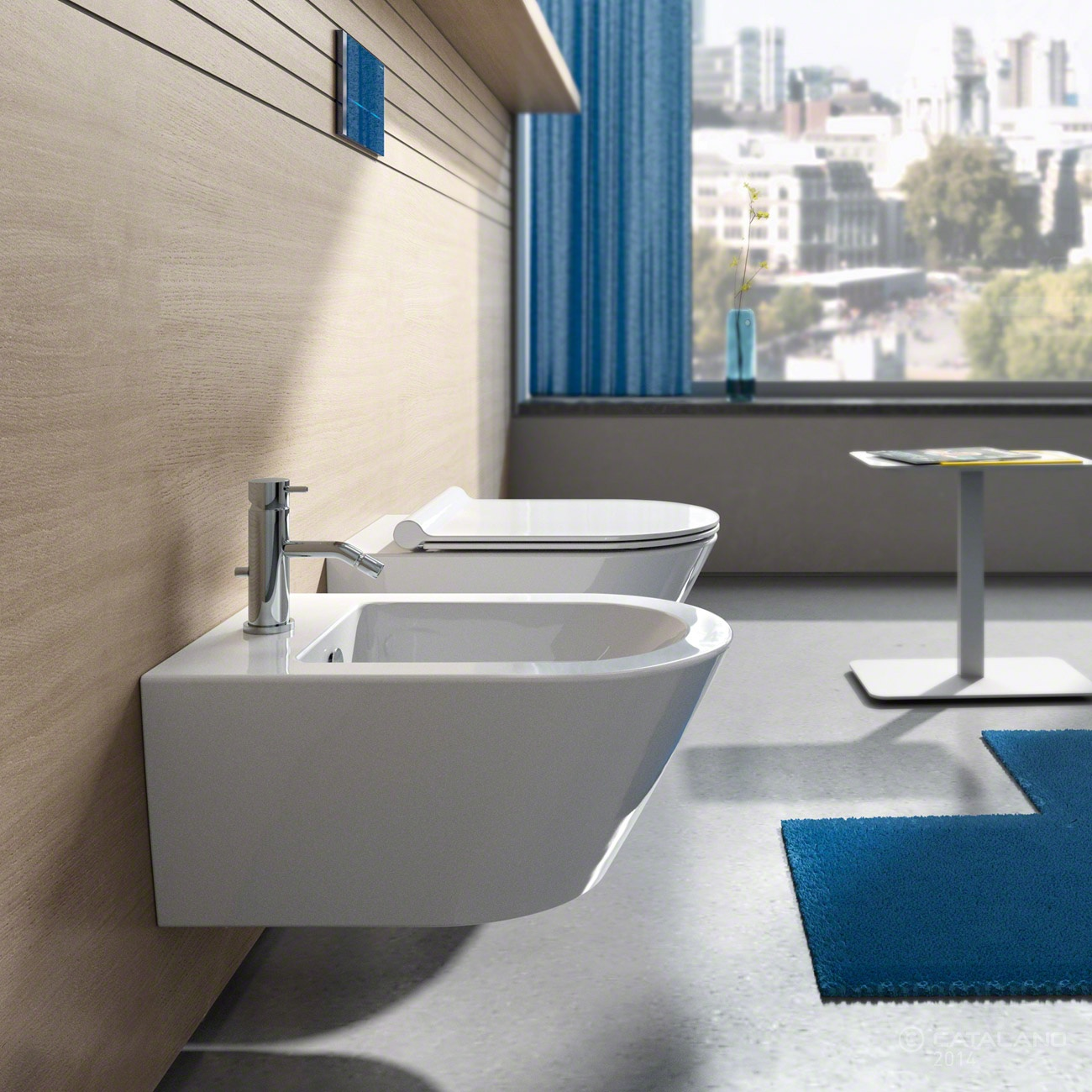 NEW LIGHT     Vaso+Coprivaso+Bidet    CATALANO