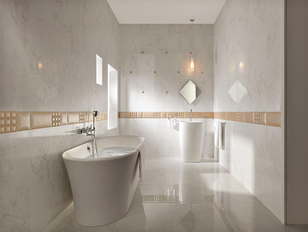 Rivestimento bagno finto marmo