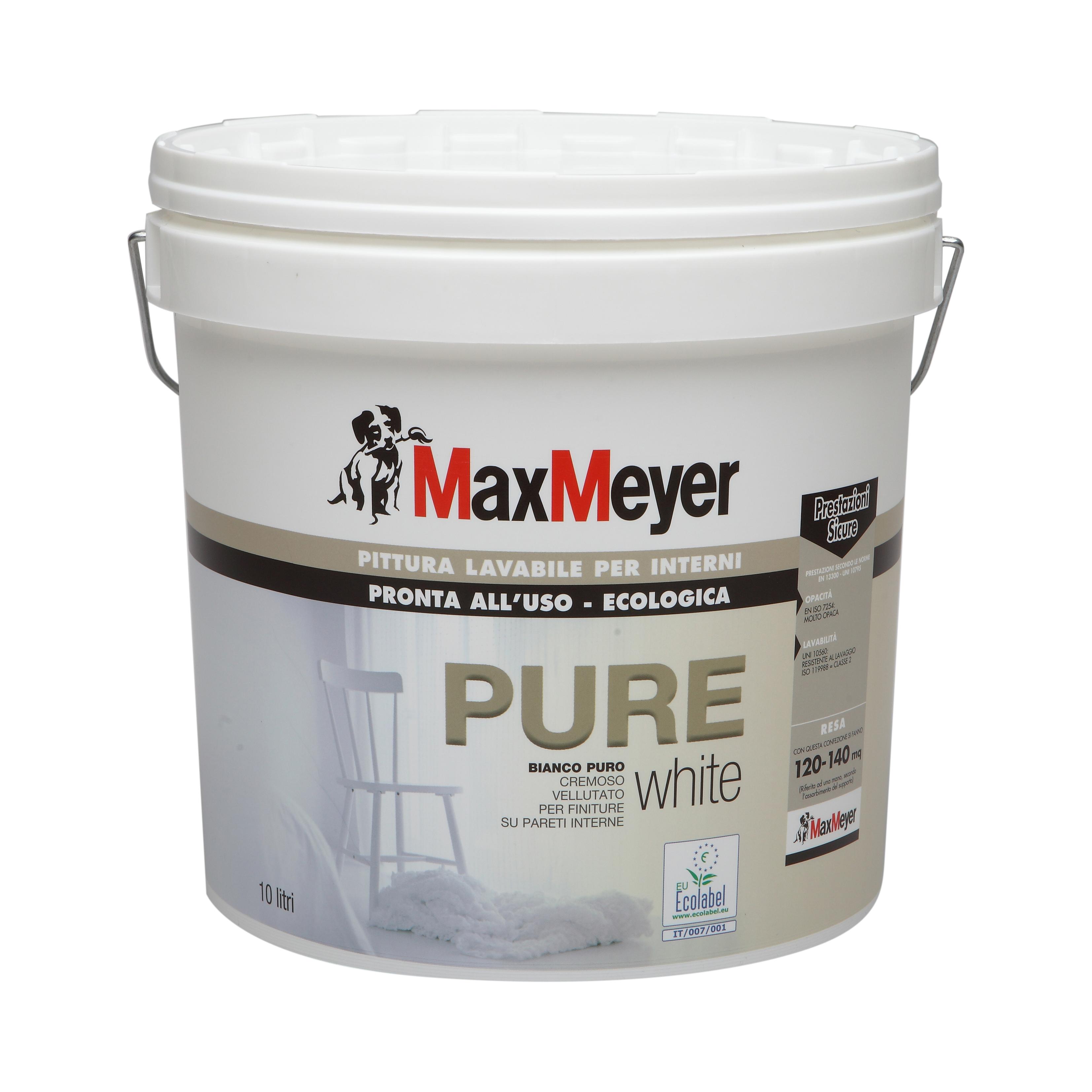 Pure pittura murale ecologica max meyer edilceramiche di - Pittura lavabile per bagno ...