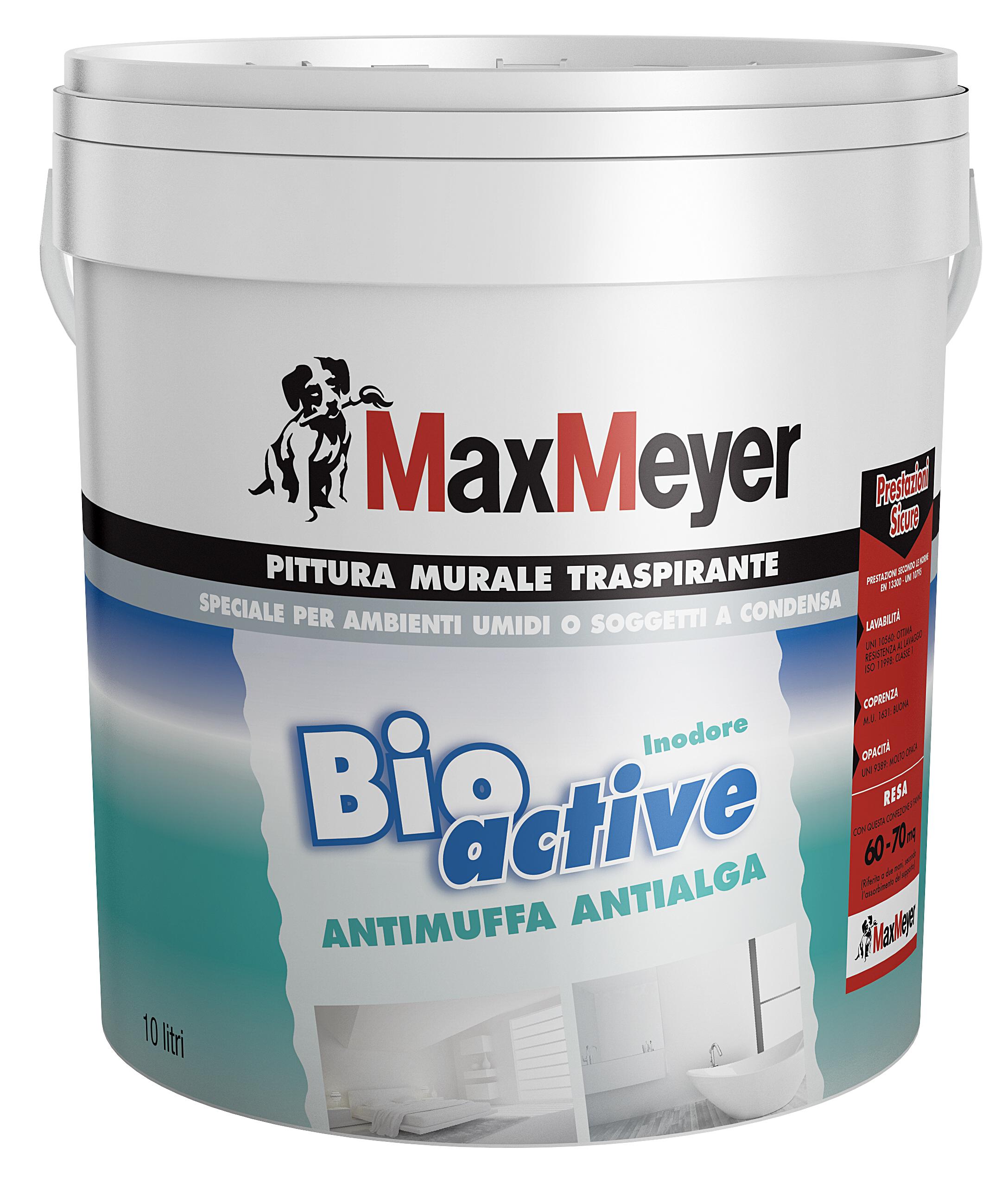 Bioactive pittura murale traspirante antimuffa max meyer - Pittura idrorepellente per esterni trasparente ...