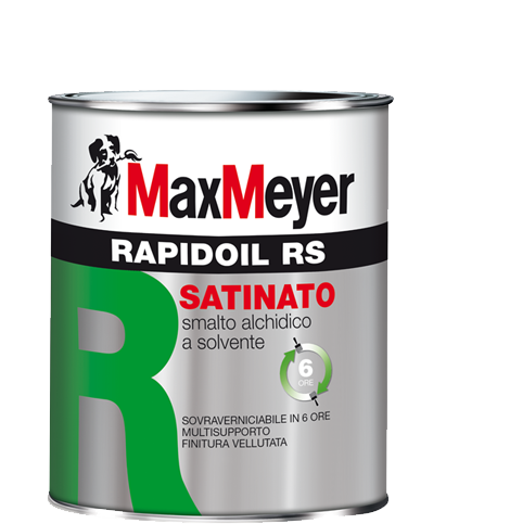 RAPIDOIL  -RS   0,375Lt.     Smalto Satinato  Alchidino      Max-Meyer
