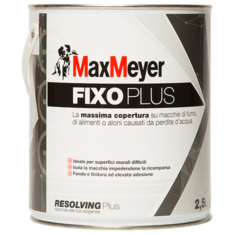 FIXO  PLUS  4Lt.   Pittura Murale Isolante Antimacchia       Max-Meyer