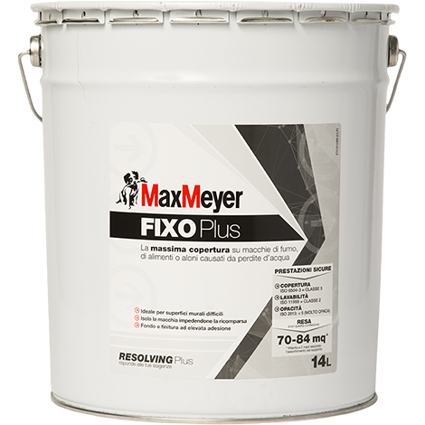 FIXO  PLUS    14Lt.   Pittura Murale Isolante Antimacchia       Max-Meyer