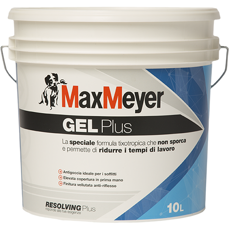 GEL  PLUS   10Lt.   Pittura Murale  Traspirante   Antigoccia   Max-Meyer