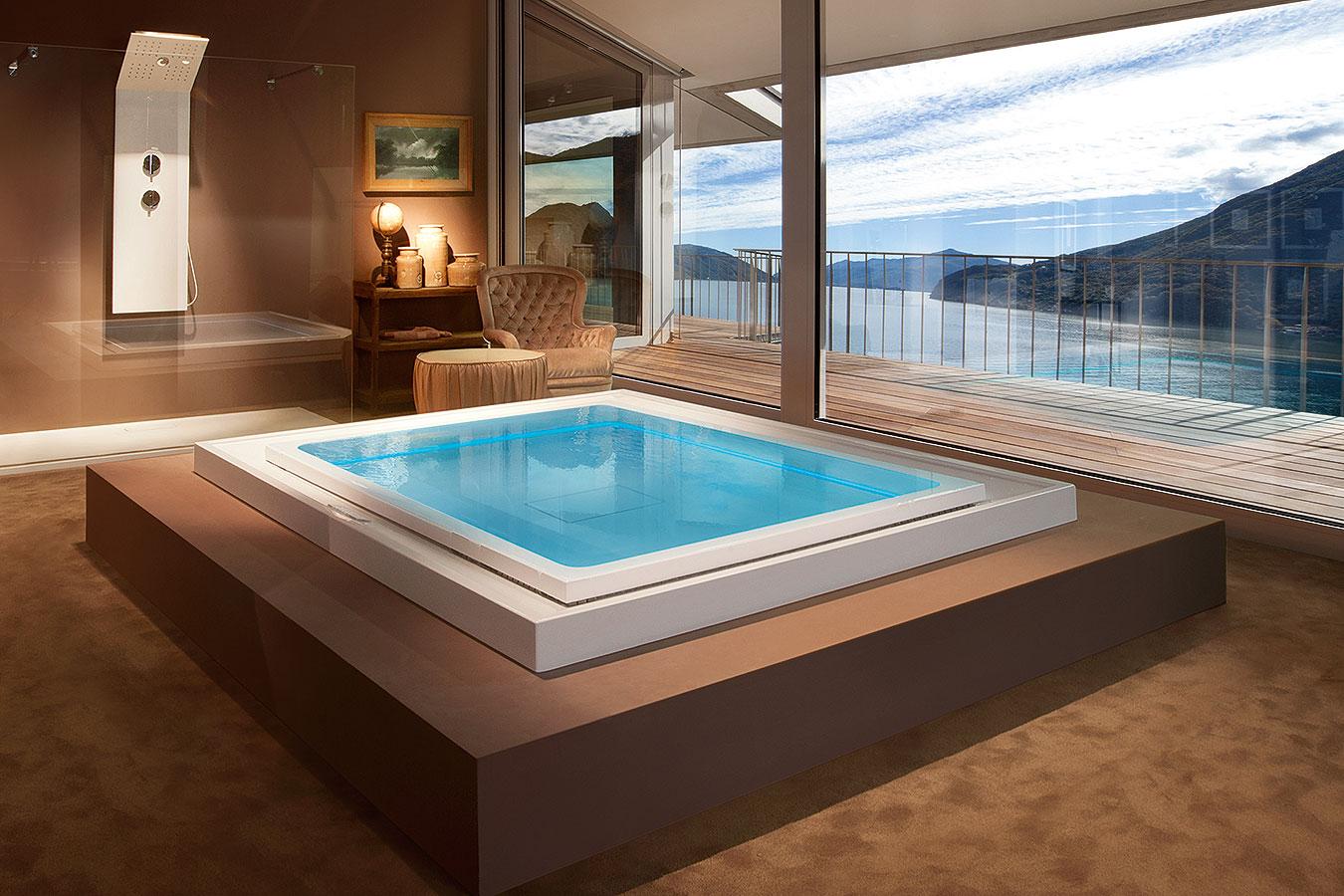 Fusion spa 230 vasca idromassaggio spa a sfioro ghost - Vasca da bagno piscina ...
